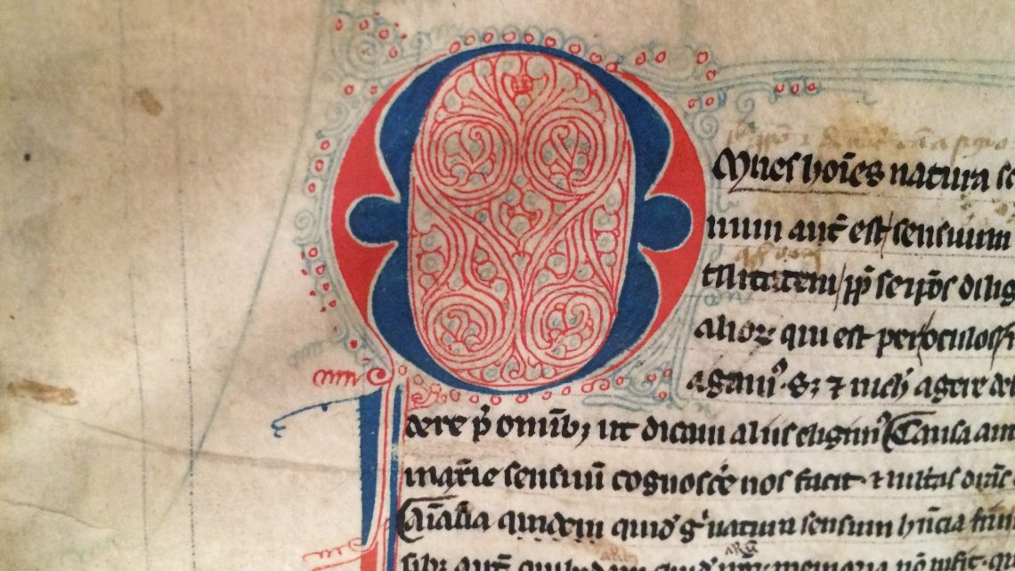 A középkori kódexnek állatbőrszaga van…